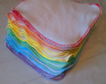 Rainbow Cotton Velour wipes