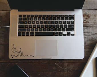 THC Molecule-Vinyl Decal for iPhone, iPad, or Macbook- Car Decal-Yeti Cup Decal