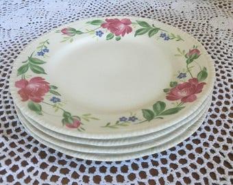 1940s Homer Laughlin Salad Plates - Set of 4