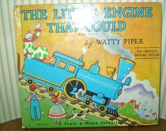 1987 Book: The Little Engine That Could- by Watty Piper- Complete Original version
