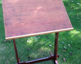 antique drafting table handcrafted builder mid century excellent condition softwood top hardwood base 20x26 drawing