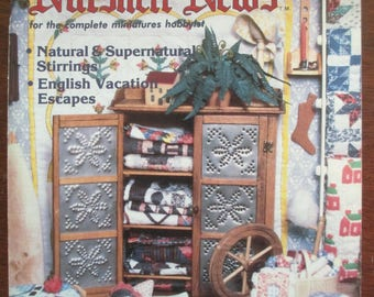 Nutshell News Magazine. Back issue October 1987 used .  Dollhouse Miniature projects good