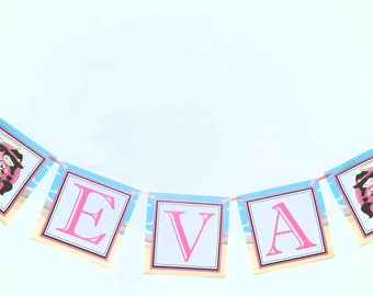 Cowgirl Birthday Banner, Cowgirl Baby Shower Banner
