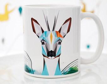 deer illustration - printed cup