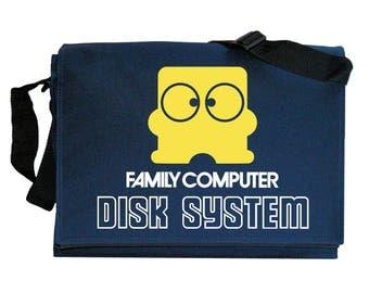 NES Disk system Famicom Emblem Navy Blue Messenger Shoulder Bag