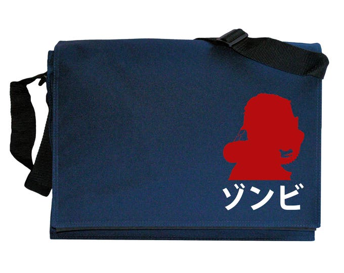 Dawn of the Dead Japanese S.W.A.T Logo Navy Blue Messenger Shoulder Bag