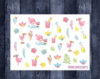 Weekend Sale Flamingo Clip art Set for ec life planner, happy planner, filofax, kikki k, or any planner or scrapbooking