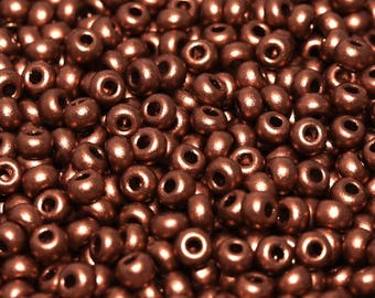 20gr 8/0 Czech Glass Seed Beads Rocailles, Camel Gold (8SB058)