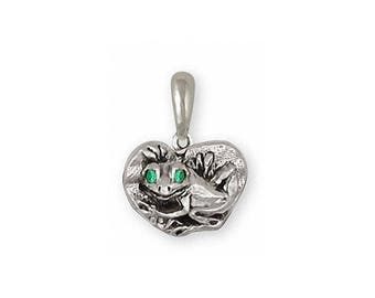 Frog Pendant Jewelry Sterling Silver Handmade Frog Pendant FG15-XP