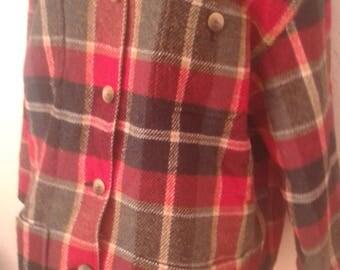 Vintage 90's Jones New York Lined Medium Plaid Jacket
