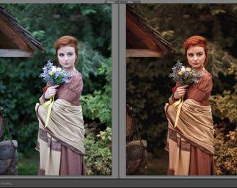 Lightroom Preset Professional Actions Photoshop,  Outdoor Portrait Autumn, Gold. Warm colors. Natural Light. VSCO. Vintage. Instant Download