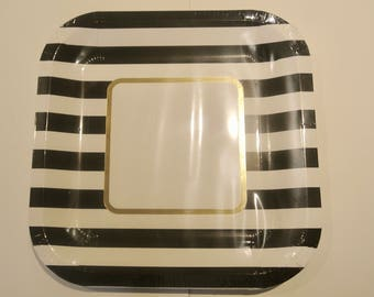 Kate Spade Tableware. Kate Spade Baby Shower. Black and White. Kate Spade Bridal Shower. Kate Spade Plates. Paper Rabbit on Etsy