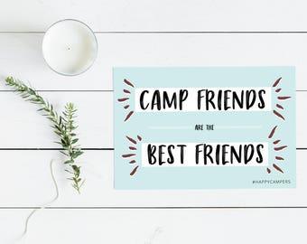 Happy Campers Postcard