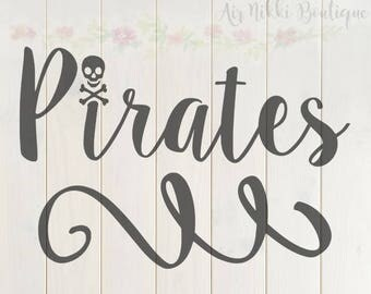 Pirates, skull and cross bones SVG, PNG, DXF files, instant download