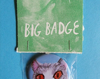 Kitty 25mm Pinback Badge