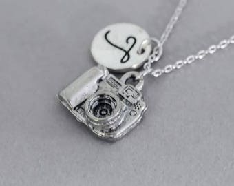 Personalized Sterling Silver Camera Necklace - Camera Necklace - Silver Camera Necklace - Photographer Necklace - Photography Necklace