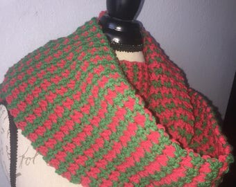 Houndstooth Infinity or Fringed Scarf--Custom Color Choice