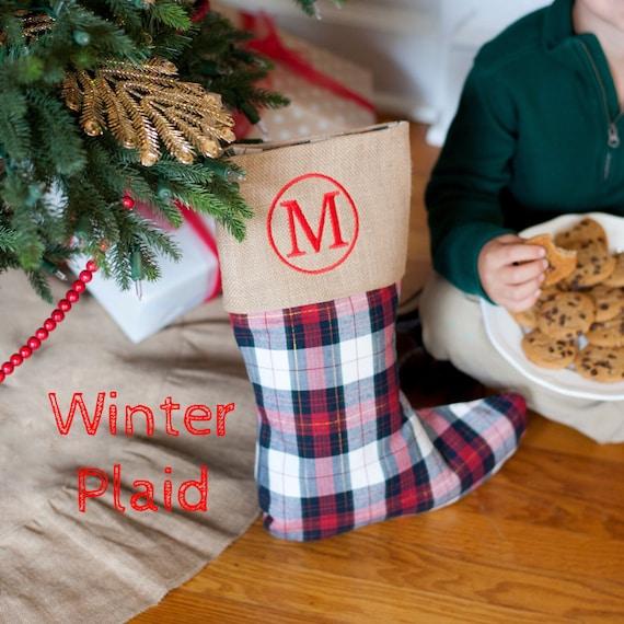 Monogramed Christmas Stocking