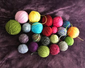 Lot of leftover yarn FREE SHIPPING