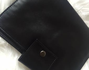 Faux Leather Nappy Wallet/Diaper Clutch