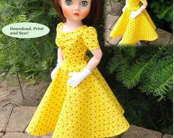 Doll Clothes PDF Pattern for Vintage 19'' Uneeda Dollikin Doll by NVME 19UD-3A