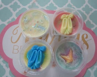 Melts Cup Wax -4 Pack Scented Melt Cup - Ballerina Fairy Melt Cup Sampler- Soy Wax Cup-