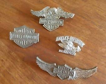 Vintage~Harley Davidson Pin~Harley Jewelry~Biker accessorie~Motorcycle Pin~Genuine Harley Pin~90's~Large Jacket Pin~Vest Pin