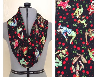 Zombie Pinup Girls Single Loop Scarf