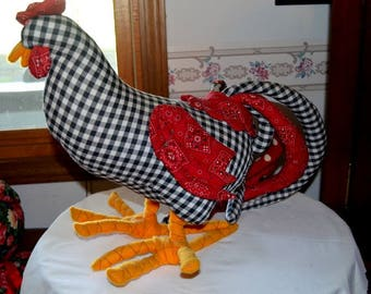 Vintage Stuffed Rooster