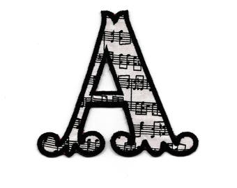 Sheet Music Letter Patch, Custom Made!