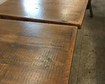 Pub Table Top, Add A Table Base, 24 X 30 Reclaimed Wood Dining Table
