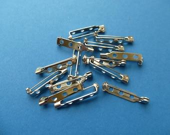 Brooch barpins.  25mm (1 inch)   3 hole   set of  12