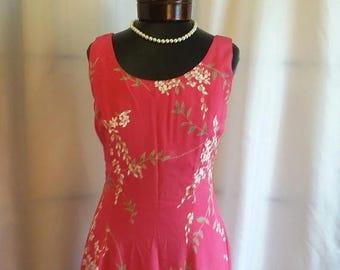 SHOP CLOSING 70% OFF Vintage dress Pink summer dress flower summer dress Saks size 6