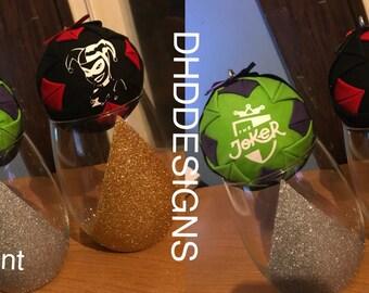 Harley Quinn and Joker Ornament Set