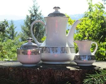 Winterling WIG141 Bavaria Coffee Service - Platinum Scroll Pattern
