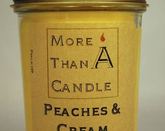8 oz Peaches & Cream Soy Candle