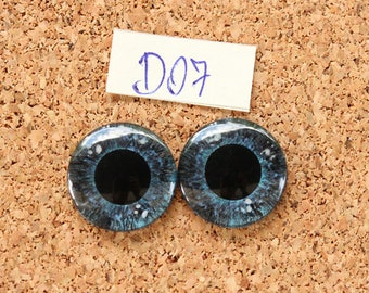 Eye Chips For Blythe Doll  Hand painted pair of eye chips no.D07