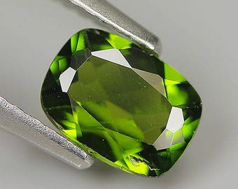 Rare! 0.87 Ct Natural Russia Green CHROME DIOPSIDE Cushion Gem