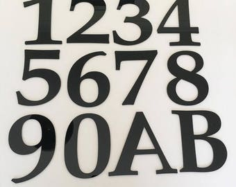 Book Font, Flat Finish, House/Shop/office Names and Numbers - Several Colours and Sizes