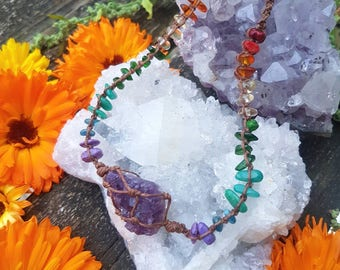 My favorite color is the rainbow - Made to Order chakra chokers