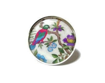 PARROT RING - Vintage ring - Parrot jewelry - Exotic bird ring - Colorful bird jewelry - Jungle ring - Tropical jewelry - japanese style