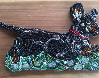 Bead Embroidery Dachshund Dog