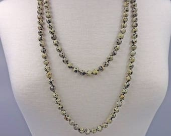 Semi Precious Stone Necklace 60 inch