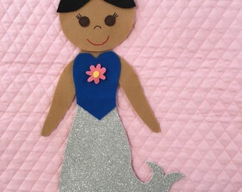 Paper Doll Quilt Mermaid Outfit