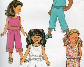 Butterick Fast & Easy LOOSE TOP PANTS Pattern 3789 Girls' Sizes 6 7 8