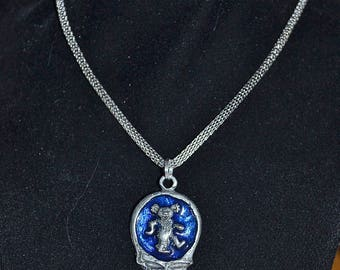 Steal Your Face silver necklace