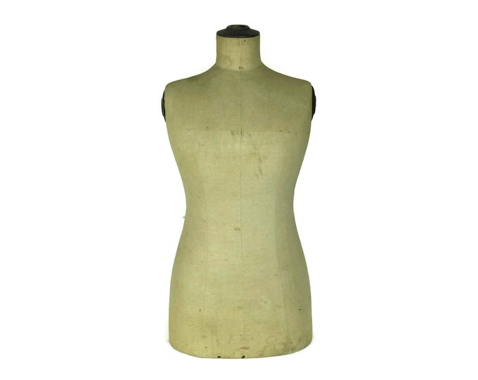 Antique Stockman Mannequin Dress Form Size 46. French Tailors Dummy. Dressmakers Form Clothes Stand. Antique Store Display. Gift for Crafter