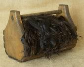 Washed Bay Black/Dark Brown Suri Alpaca Locks: 1 ounce (Aphrodite) Fiber for Felting, Spinning or Doll Hair