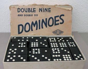 Vintage Hal-Sam Dominoes in Box c1940s
