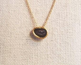 Natural Geode Slice Pendant Necklace